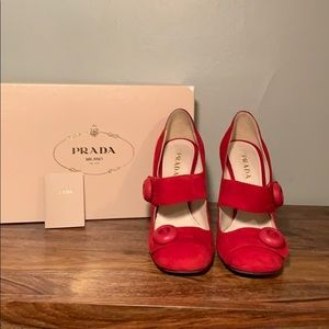 Prada Red Mary Jane Heels